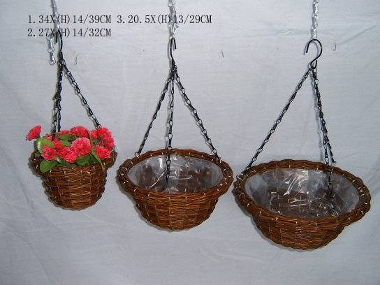 willow hangging basket