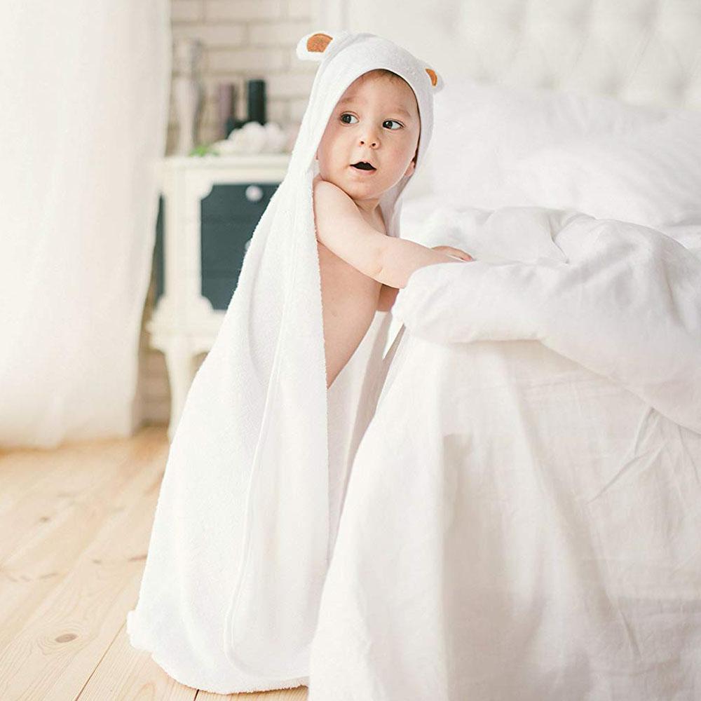 Baby Towel Baby Washcloth Set Organic Bamboo Baby Bath Towel Newborn Hooded Towel