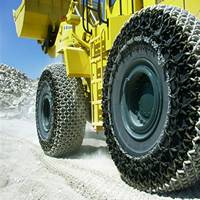 Wheel loader tyre chains