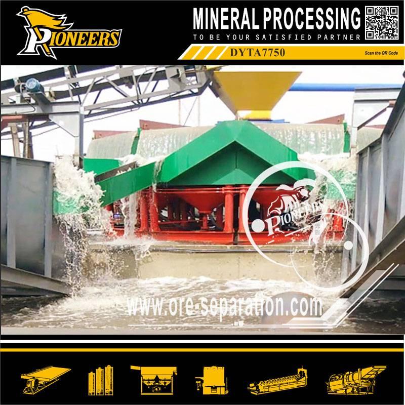ydraulic Radial Jigs PYTA7750 Manganese Barite Zirconium Chrome concentration