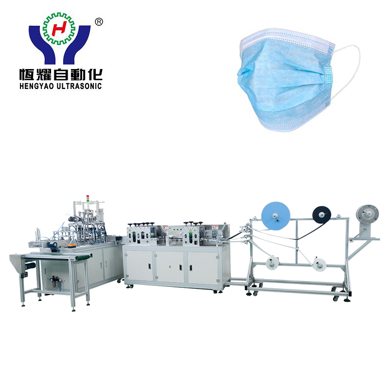 High Output Disposable 3 Ply Face Mask Making Machine