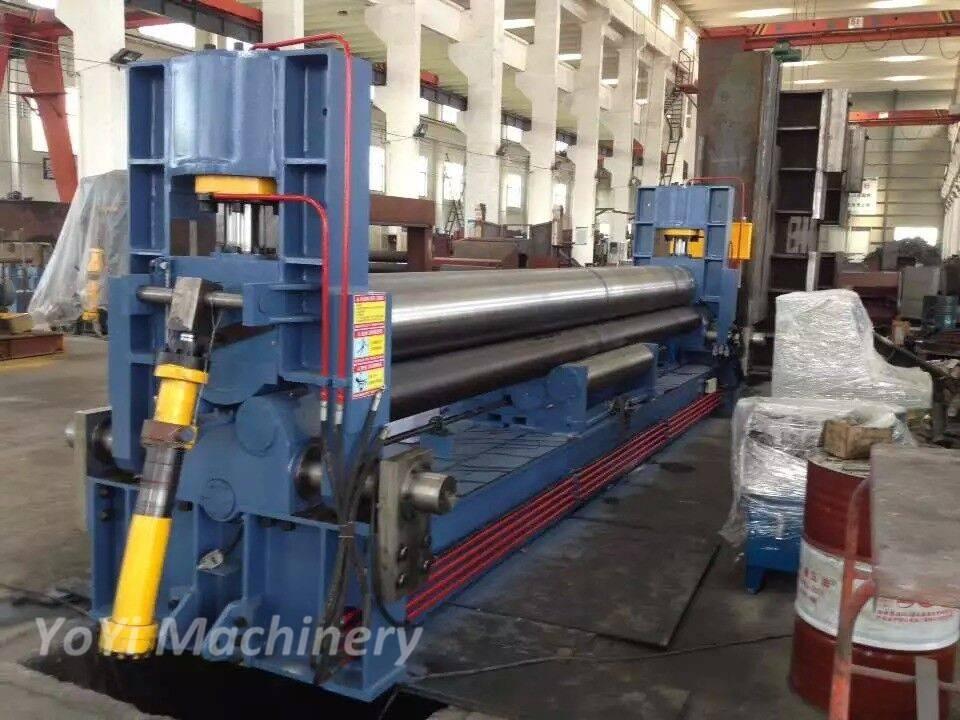 W11-12mm6000mm cnc three roller plate bending machine
