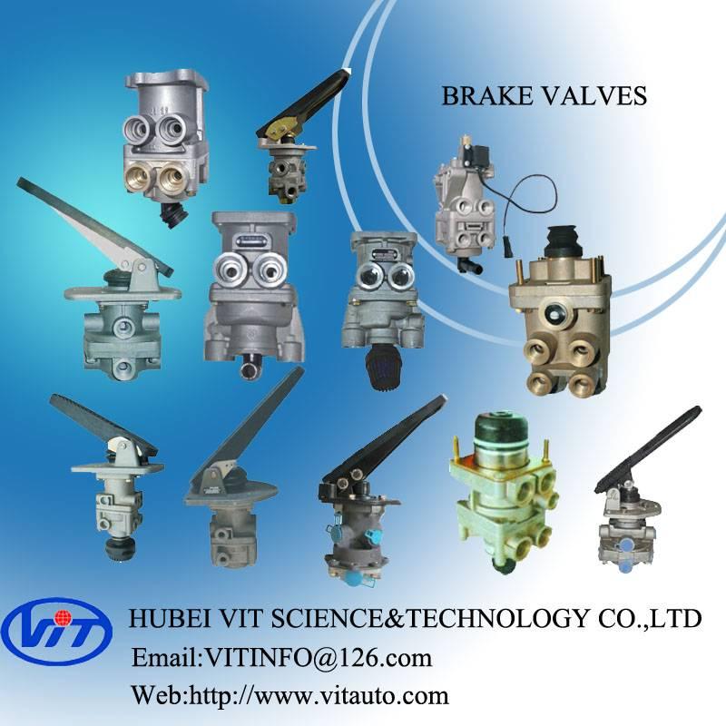 Truck air brake part foot brake valve