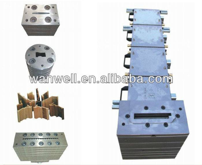 PVC low foaming profile mould