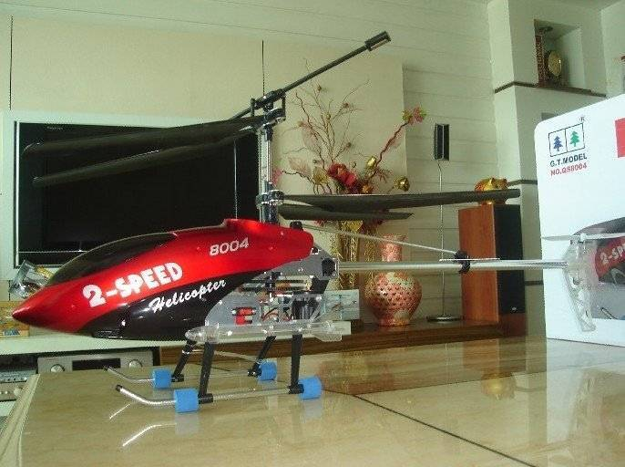 Free Shipping Via EMS Deluxe 30 Inch 3.5 Channel Gyroscope System Metal R/C Helicopter Toy with LED