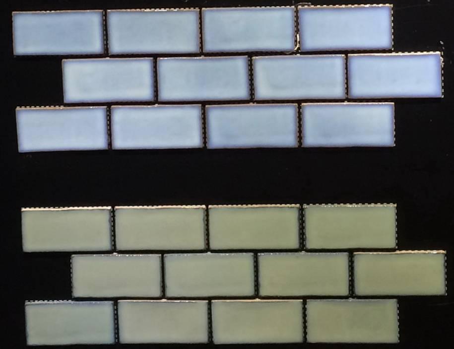 Subway crystallized glazed pool tiles