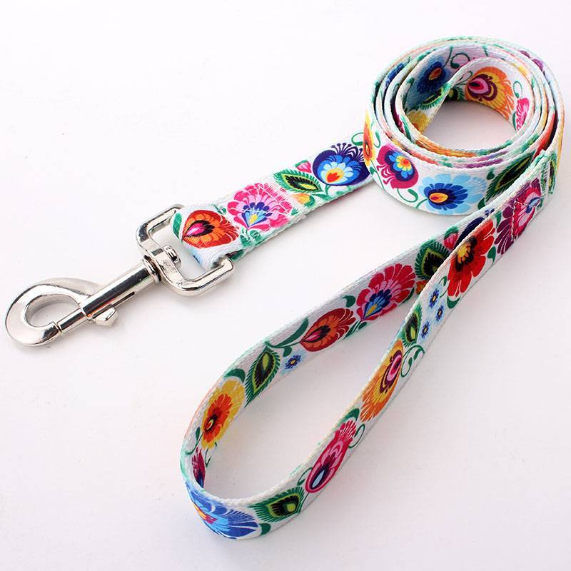 Factory personalized wholesale sublimation polyester dog leash