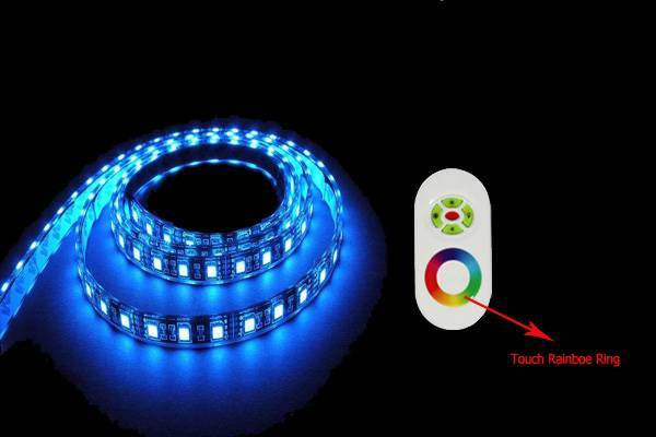 RGB LED strip with RF controller