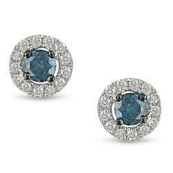 18k white gold blue topaz and diamond earrings,diamond jewelry