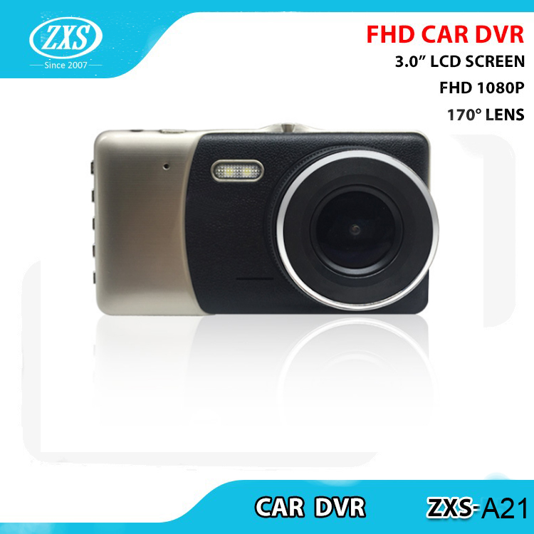 HD video Fhd 1080p car dvr Dash Cam 1080P with CE Certification with 3M sticker ZXS-A21