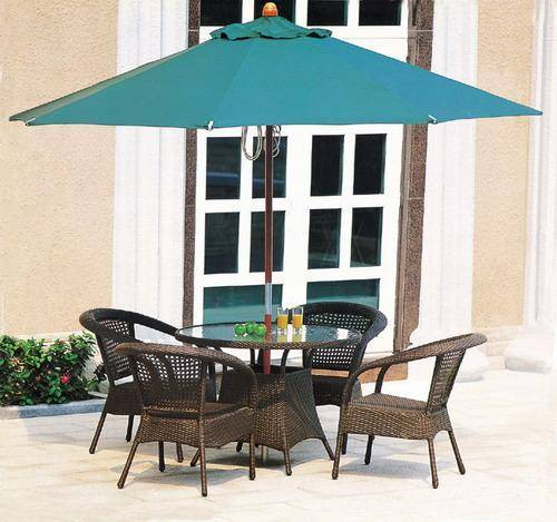 column wood umbrella (no side fabric)