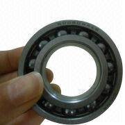 Stainless steel deep groove ball bearings with open design