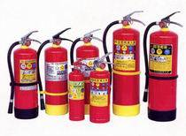 Portable stored-pressure powder series extinguishers