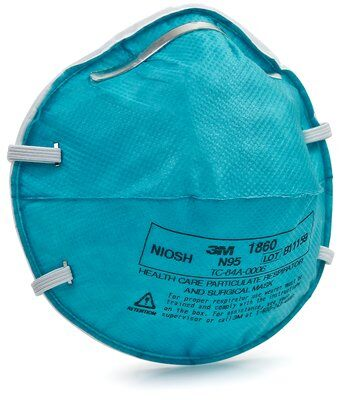 3M 1860 N95 Particulate Respirator Face Mask.