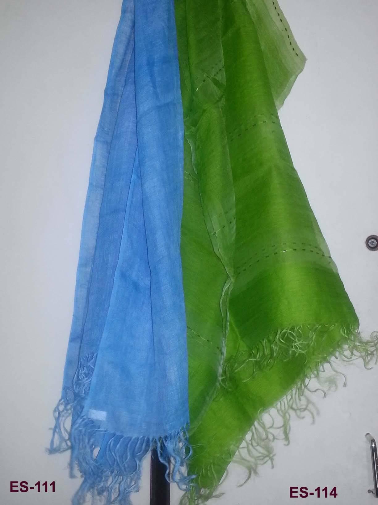 Linen scarf, Wool-silk stole katdana embroidery