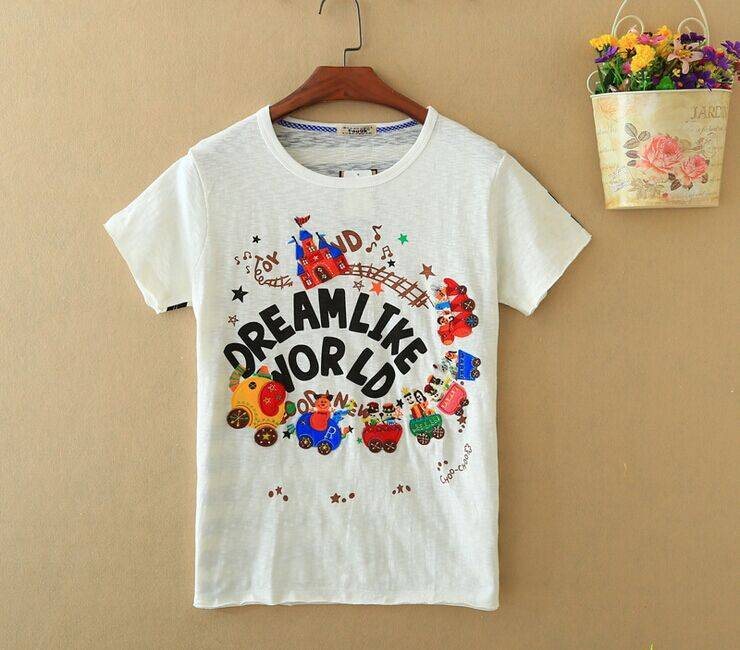 2015 New Lady Dream Like World Short SleeveT-Shirt