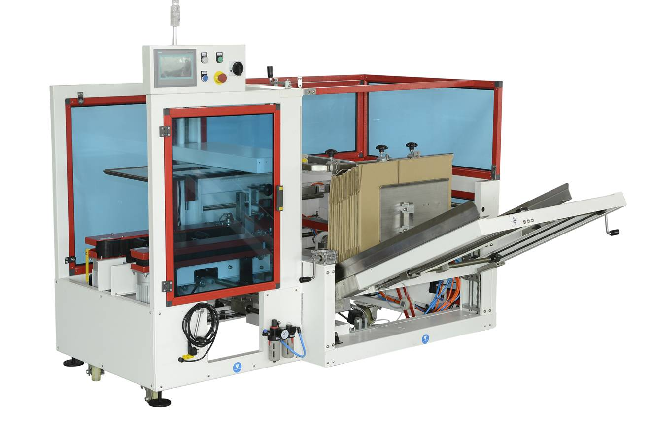 Automatic carton erector and bottom sealing machine