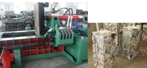 metal scrap baling press