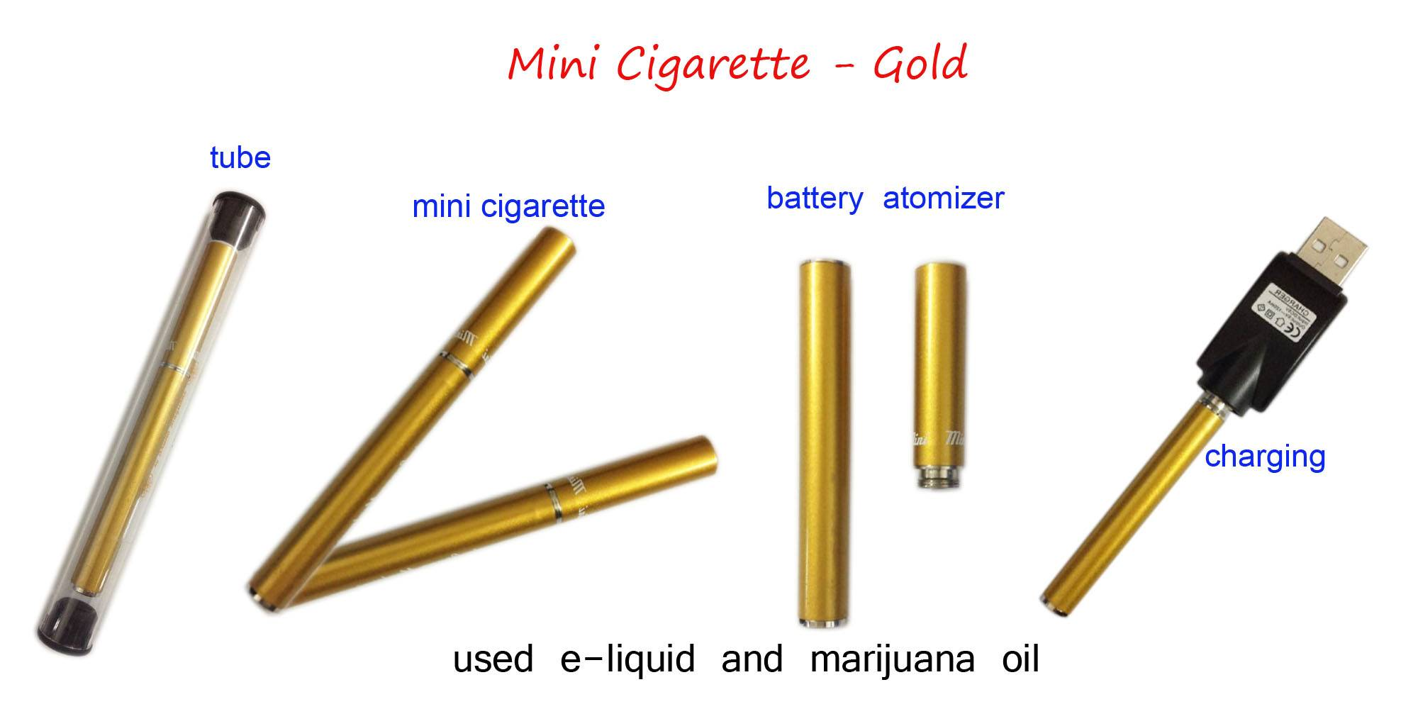 Gold mini-cigarette