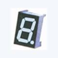 7 Segment Single Digit White LED Display 1.0 Inch Anode