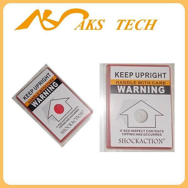 single angle warning labels TiltAction for transport