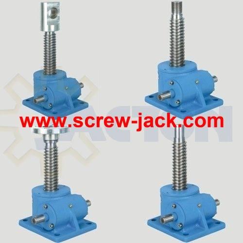 worm gear screw jack mechanism, worm wheel screw jack, worm gear lift light load