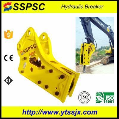 Best quality triangle open type rock breaker excavator backhoe loader skid steer applicable