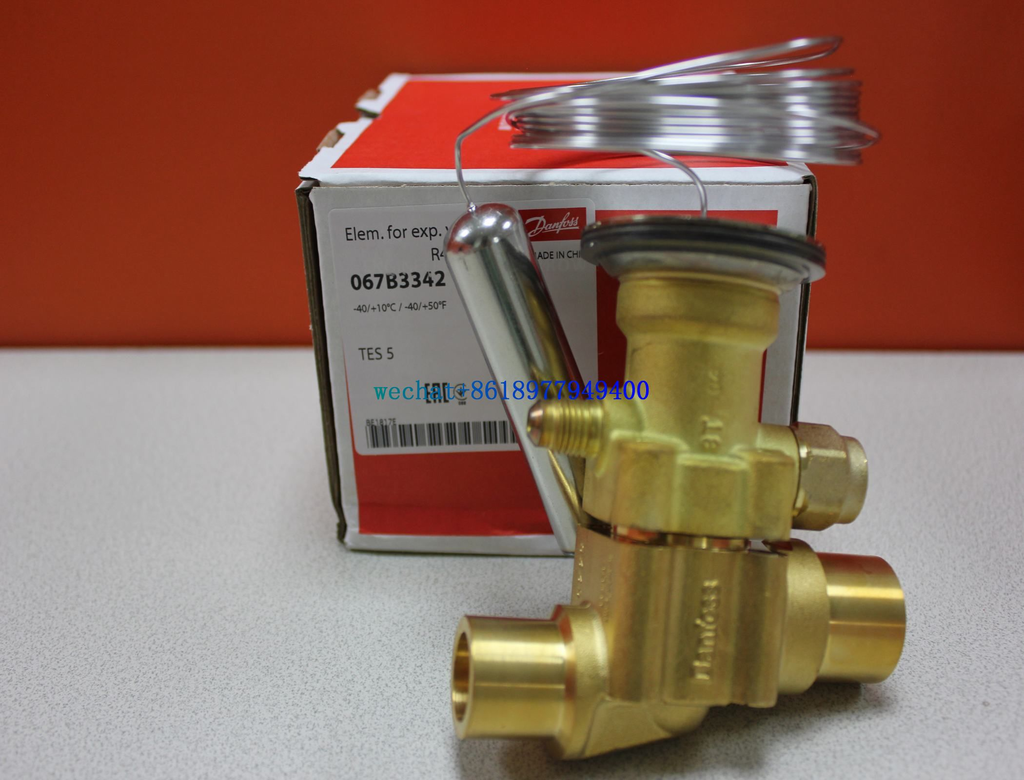 Expansion valves types TEX5-TEZ12/TES20-TEN55/067B3250 Danfoss