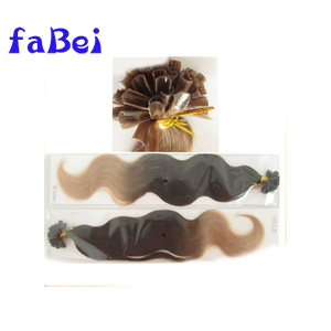 Colored curly tipped /pre-bonded /keratin fusion hair extension/weft