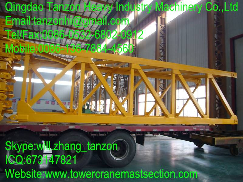 Replacement Tower Crane Mast Section / Steel Plate Split Mast