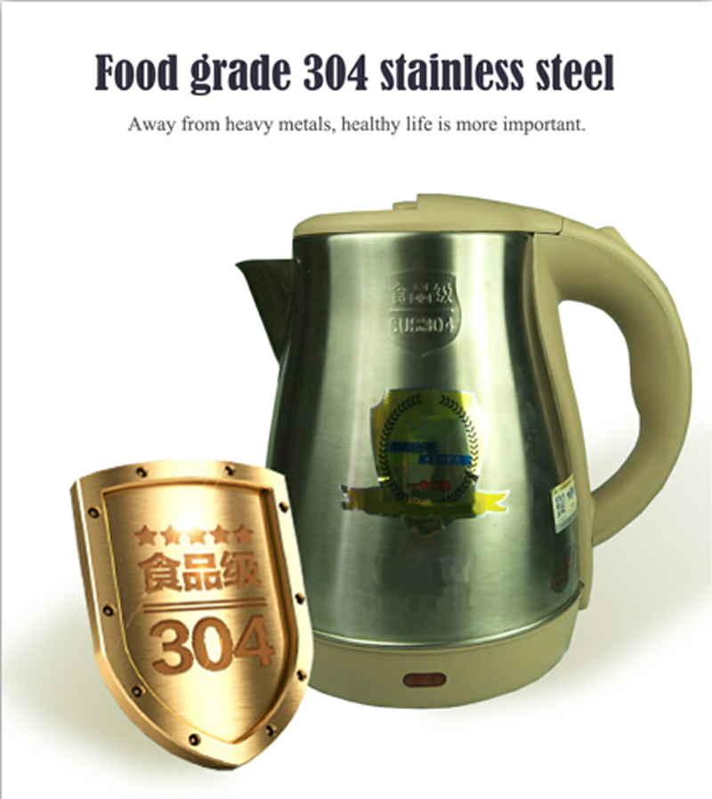 Home Appliance 1.8L Stainless Steel Electric Kettle