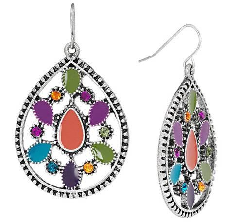 Cute Lovely Rhinestone Drop Earrings