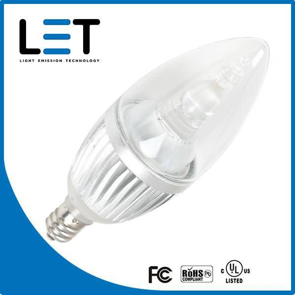 Dimmable candelabra base led light bulbs 2w e12 candelabra led candelbulb