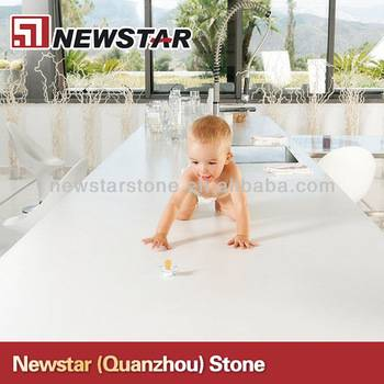 Cheap polished white artificial quartz countertop