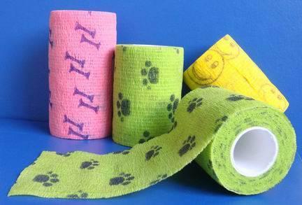 Printed cohesive elastic bandage