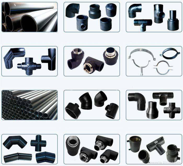 HDPE fittings and PE pipes