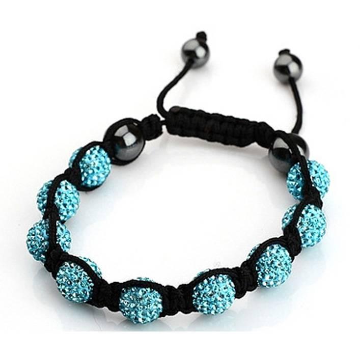 2012 High Quality Handmade Crystal Ball Shamballa Bracelet