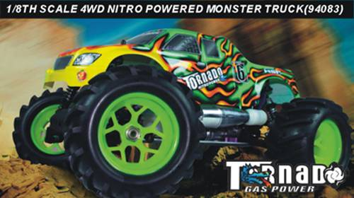 1:8th scale nitro gas powered R/C monster truck(RTR)