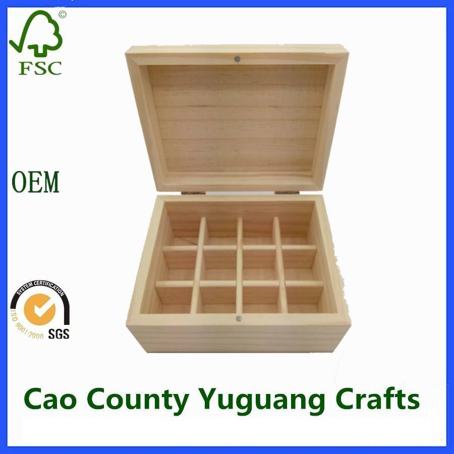 Unfinished Wooden Essential Oil Packaging Box