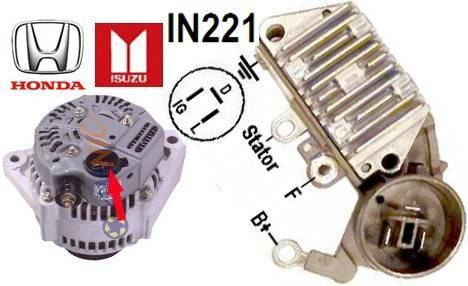 Auto Voltage Regulator FOR USE ON:HONDA,Chevy