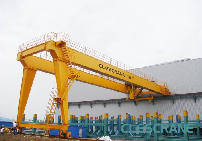 CWB Series Double Girder Gantry Cranes with Electric Winches