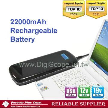 portable mobile emergency power bank for mobile devices, iphone 4,ipad,22000mAh Li-polymer battery