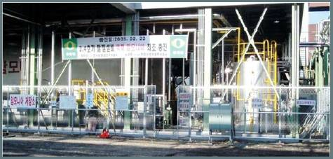 Ammonia storage & supply plant for DE-NOx system