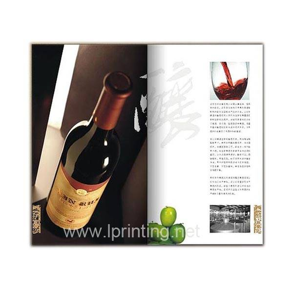 Red Wine Picture Album Printing,Beautiful Album Printing,Advertising Album