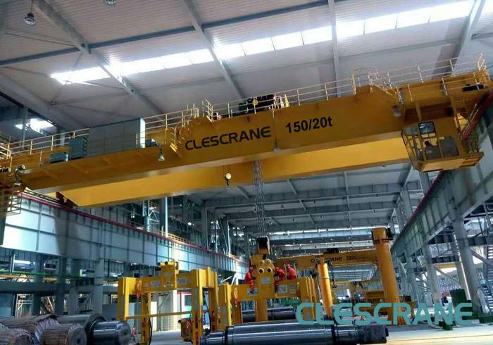 CWD Series Heavy Duty Double Girder Traveling Overhead Crane with Top Running Trolley