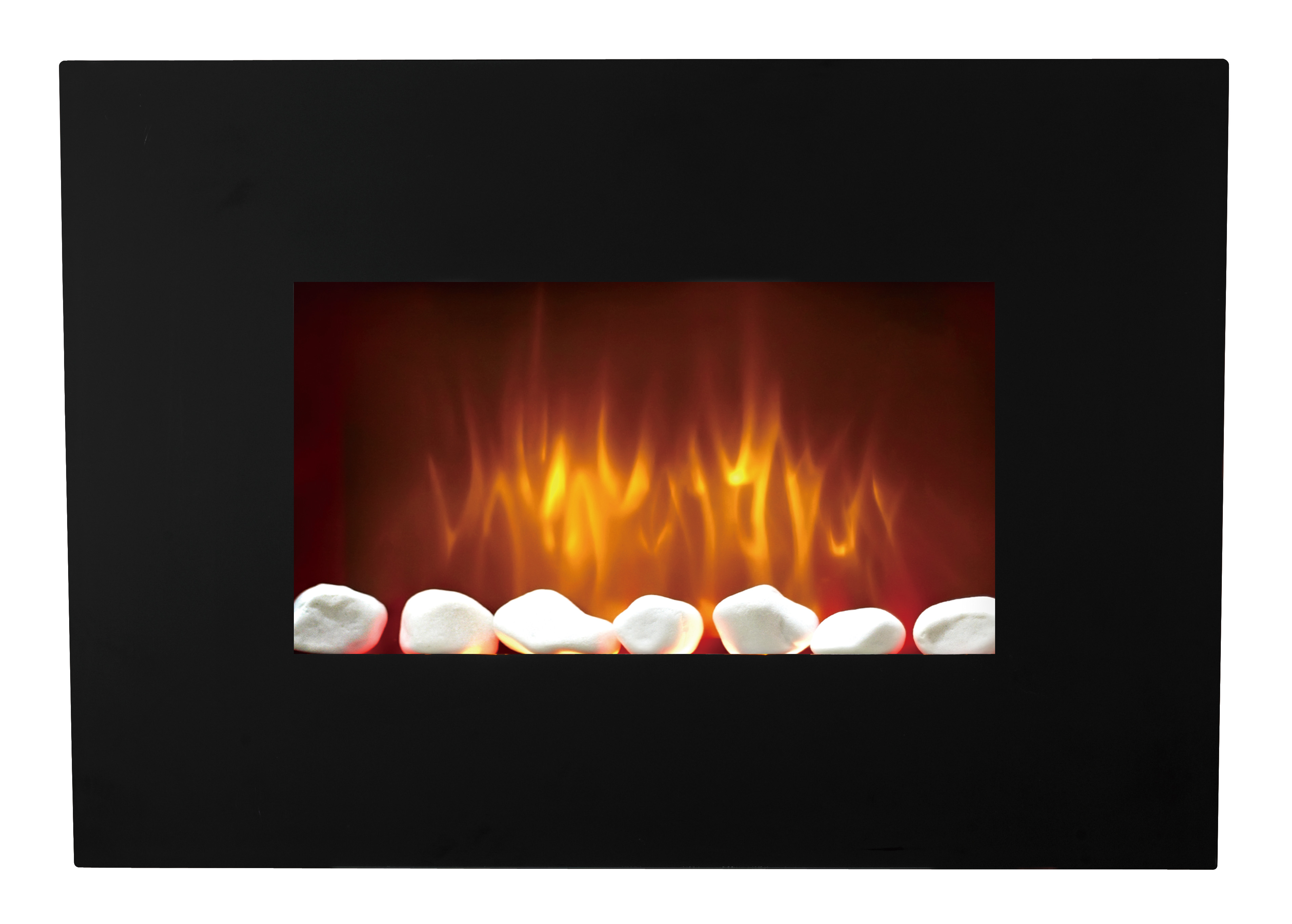 """LJHF2302BE 23"""" Wall mounted electric fireplace, wall hung electric fire with LED"""