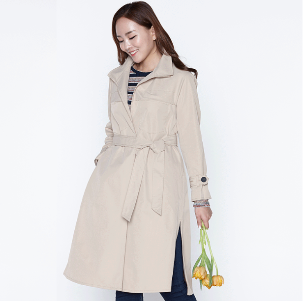 Amica Good quality breast pocket long-trench coat