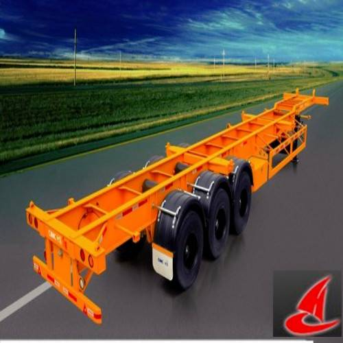 tri-axle container skeletal semi-trailer for lorry transport service
