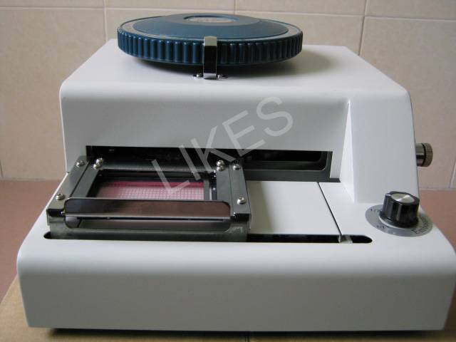 selling PVC card embossed machine