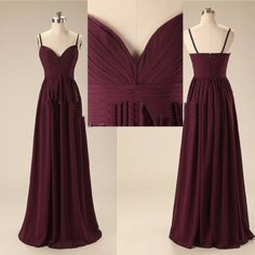 SEXY A-LINE CHIFFON SWEETHEART SPAGHETTI STRAPS FLOOR LENGTH BRIDESMAID DRESS FOR HE IS A PIRATE HB3